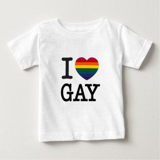 I heart Gay Rainbow Heart Baby T-Shirt