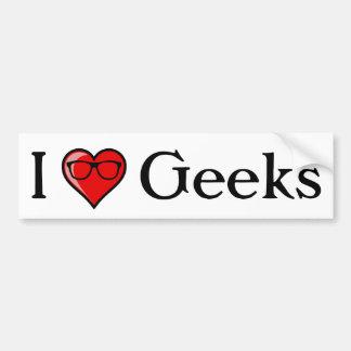 I Heart Geeks Bumper Sticker