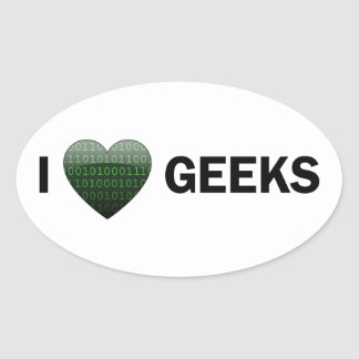 I Heart Geeks Sticker