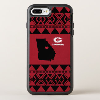 I Heart Georgia State | Tribal Pattern OtterBox Symmetry iPhone 8 Plus/7 Plus Case