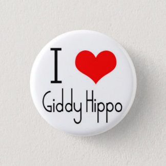 I Heart Giddy Hippo 1 Inch Round Button