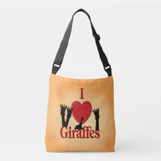 I Heart Giraffes Crossbody Bag