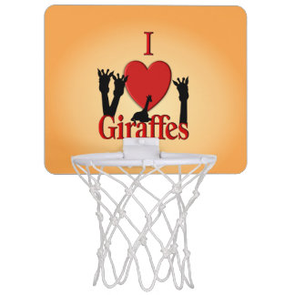 I Heart Giraffes Mini Basketball Hoop