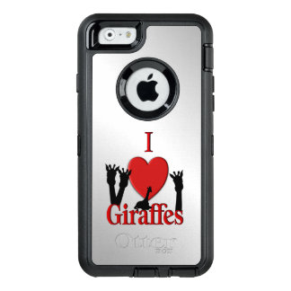 I Heart Giraffes OtterBox Defender iPhone Case