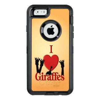 I Heart Giraffes OtterBox iPhone 6/6s Case