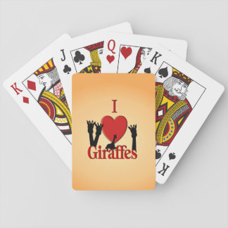 I Heart Giraffes Playing Cards