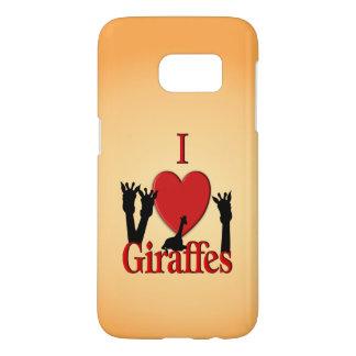 I Heart Giraffes Samsung Galaxy S7 Case