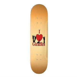 I Heart Giraffes Skate Board Deck