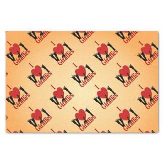 I Heart Giraffes Tissue Paper