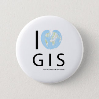 I heart GIS 2 Inch Round Button