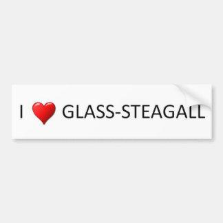 I Heart Glass Steagall Bumper Sticker