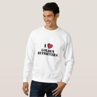 I (heart) Golden Retrievers Sweatshirt