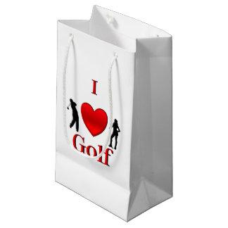 I Heart Golf Small Gift Bag