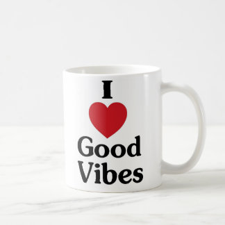 I heart good vibes simple love coffee mug