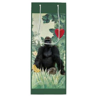 I Heart Gorillas Wine Gift Bag
