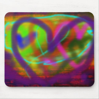 I Heart  Graffiti Mouse Pad
