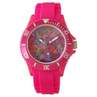 I Heart Graffiti Sporty Pink Silicon Watch