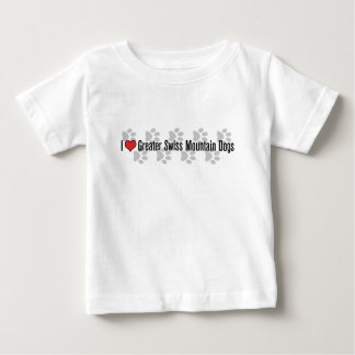 I (heart) Greater Swiss Mountain Dogs Baby T-Shirt