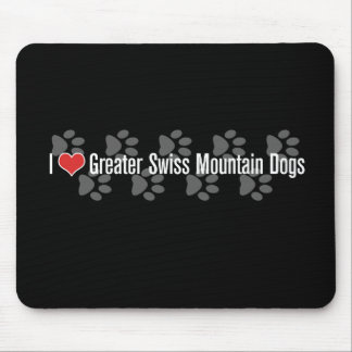 I (heart) Greater Swiss Mountain Dogs Mouse Pad