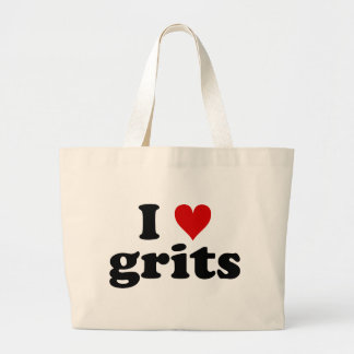 I Heart Grits Large Tote Bag