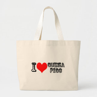 I (heart) guinea pigs large tote bag