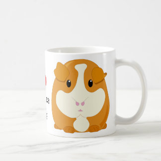 I Heart Guinea Pigs with a Cute Cartoon Animal Coffee Mug