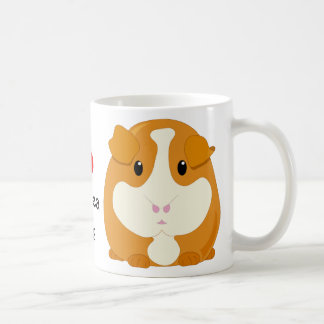 I Heart Guinea Pigs with Two Cute Cartoon Animals Coffee Mug