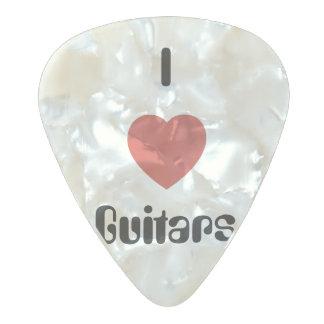 I Heart Guitars Pearl Celluloid Guitar Pick