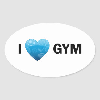 I Heart Gym Stickers