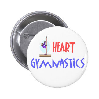 I HEART GYMNASTICS BUTTON