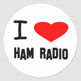 I Heart ham Radio Classic Round Sticker
