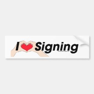 I heart Hands Signing Bumper Sticker