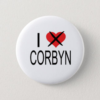 I HEART HATE CORBYN 2 INCH ROUND BUTTON