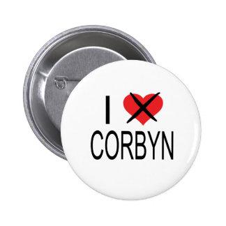 I HEART HATE CORBYN 2 INCH ROUND BUTTON