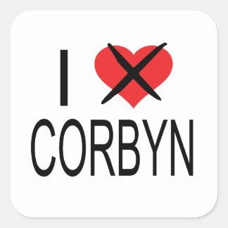I HEART HATE CORBYN SQUARE STICKER