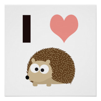 I heart Hedgehogs Perfect Poster