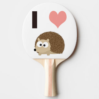 I heart Hedgehogs Ping Pong Paddle