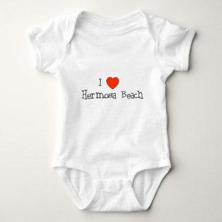 I Heart Hermosa Beach Baby Bodysuit