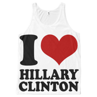 I Heart Hillary Clinton All-Over-Print Tank Top