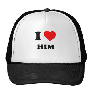 I Heart Him Mesh Hat