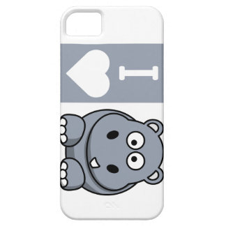 I Heart Hippos Phone Case iPhone 5 Cases