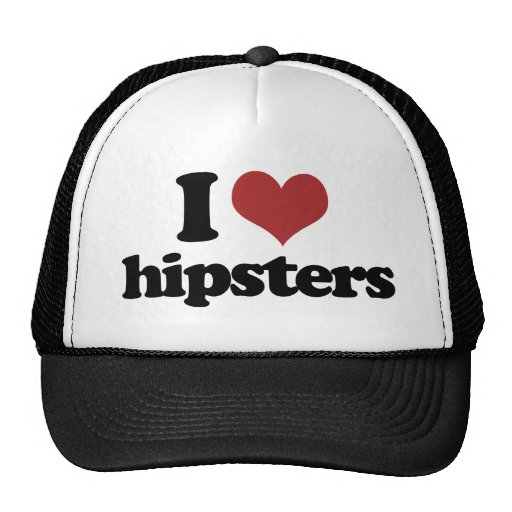 I heart hipsters trucker hat