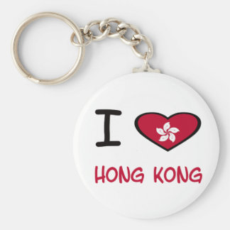 I Heart Hong Kong Basic Round Button Keychain