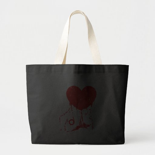 I HEART HORROR MOVIES CANVAS BAGS