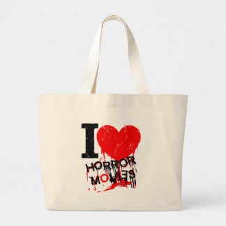 I HEART HORROR MOVIES TOTE BAG