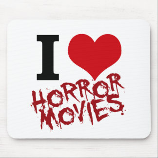 I Heart Horror Movies Mouse Pad