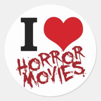 I Heart Horror Movies Stickers