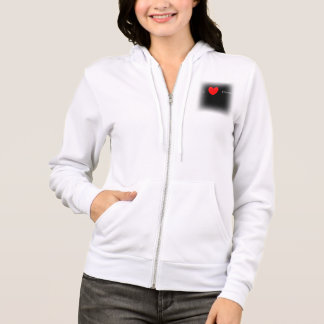 I heart horses ladies fleece zip up hoodie