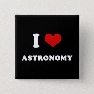 I Heart I Love Astronomy 2 Inch Square Button