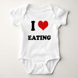 I Heart I Love Eating Baby Bodysuit